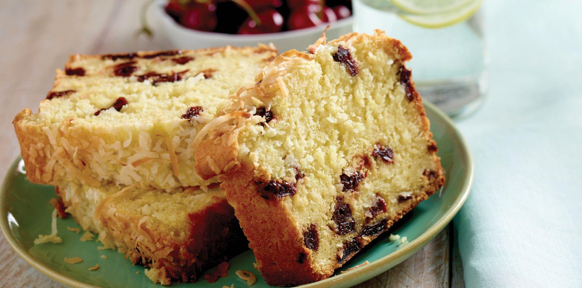 Coconutcherry ricotta pound cake ricotta pound cake