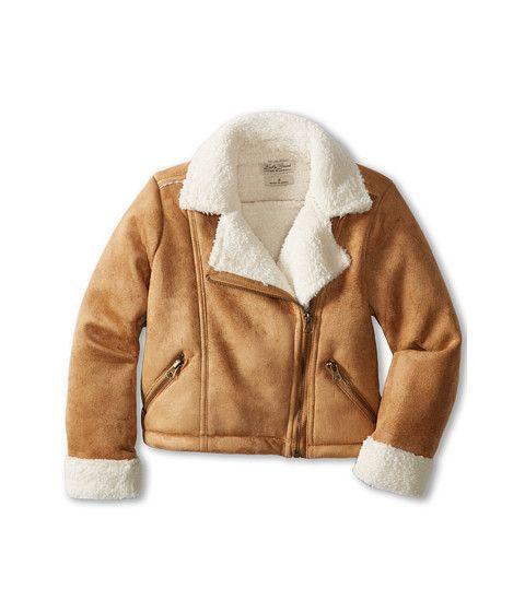 Lucky Brand Kids Girls' Shearling Moto Jacket (Little Kids) | My ...