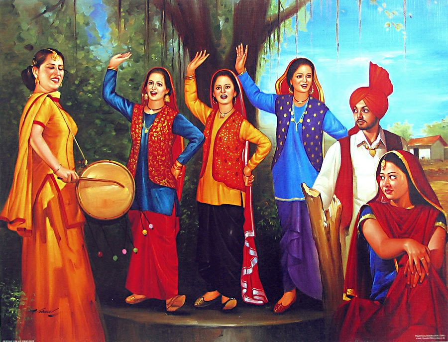 Old Punjabi Culture Folk Dance From Punjab