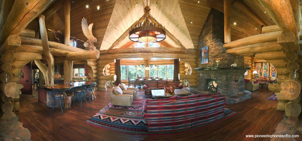 Log Home Interior Designs Picture Gallery In 2019 Log