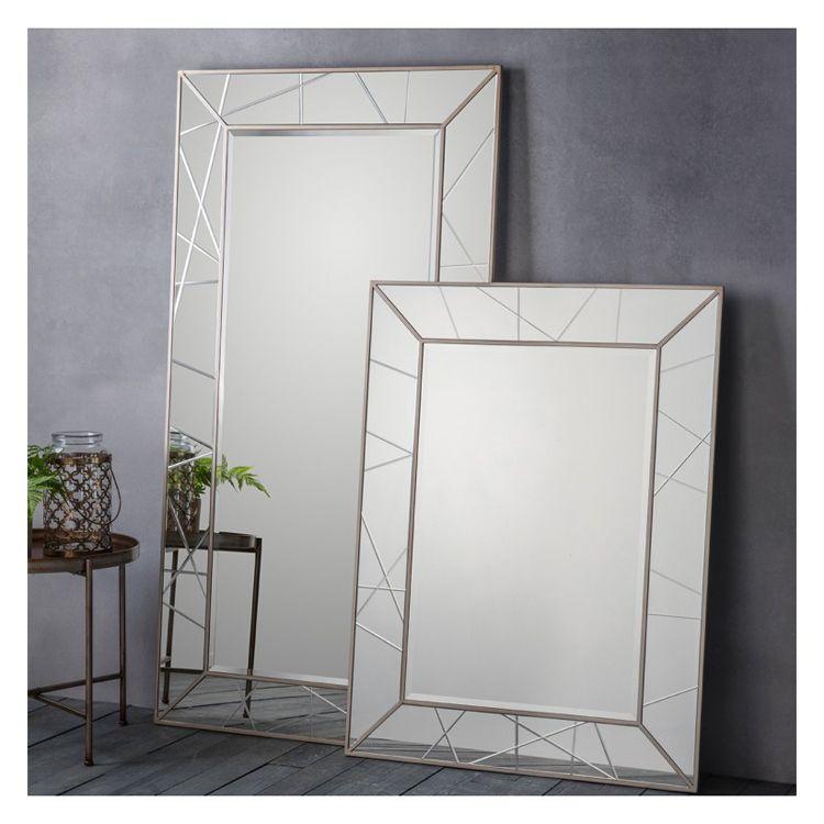 Colour Silver Range Metallic Shape Full Length In 2020 Modern Mirror Wall Mirror Wall Mirror