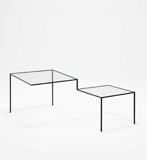"Nendo (Oki Sato + Akihiro Ito), chair and table ""Thin Black Lines"", with the structure defined by a simple dark line. The Japanese design practice, founded in Tokyo 10 years ago, recently won the Wallpaper magazine ""designer of the year"" award"