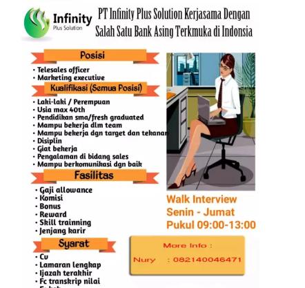 Lowongan Kerja Surabaya Juli 2019 Pt Infinity Plus Solution Terbaru Surabaya Infinity