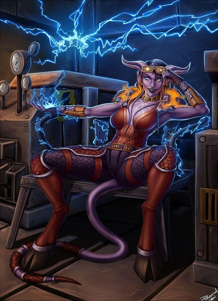Sexy female draenei