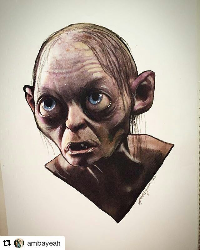 Gollum . . . #gollum #tlotr #esdla #hobbit #Draw #Drawing #Art ...
