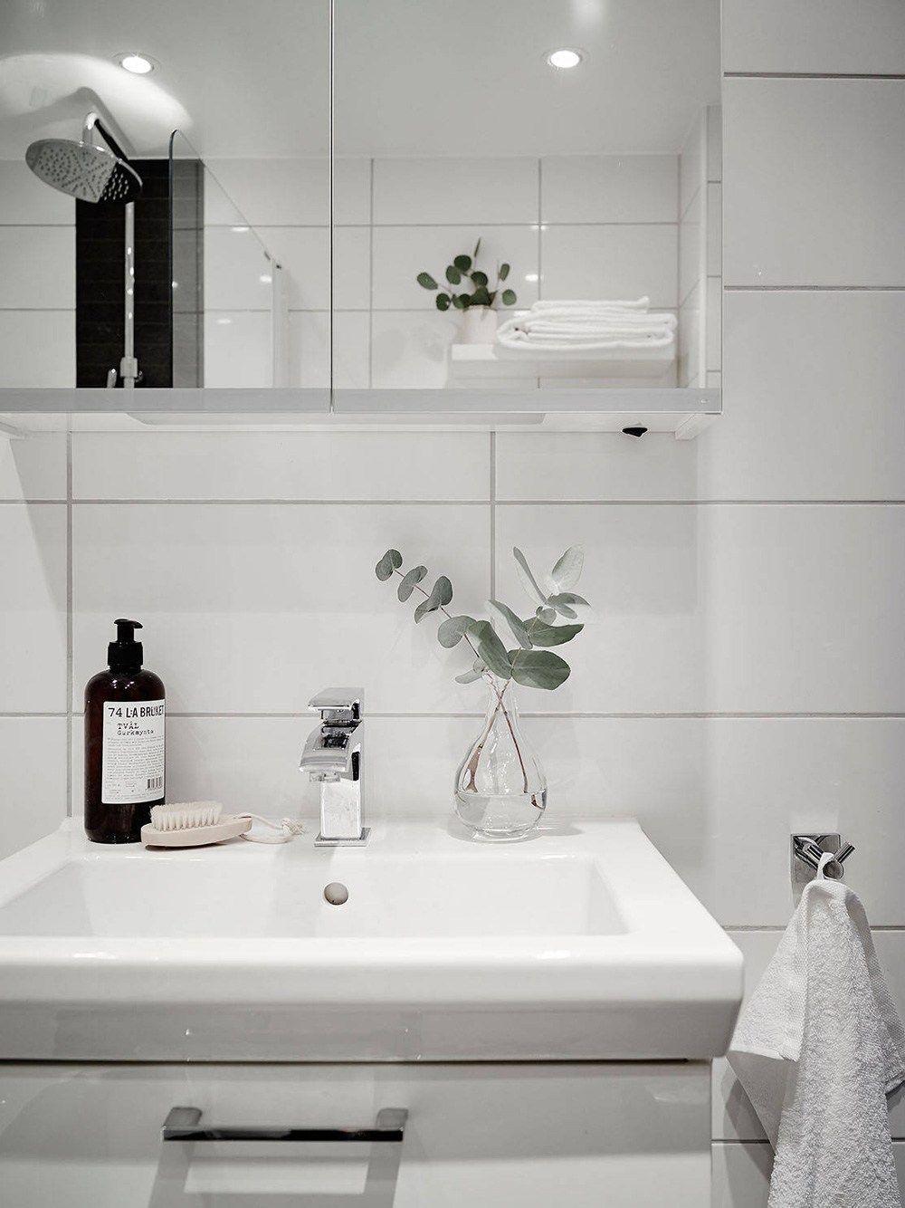 estilo nrdico escandinavo encimera de madera decoracin interiores decoracion de cocinas cocinas modernas cocinas blancas cocina - Cocinas Modernas Blancas