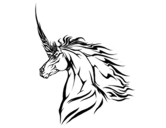 Tribal Unicorn Unicorn Tattoos Tribal Drawings Pegasus Tattoo