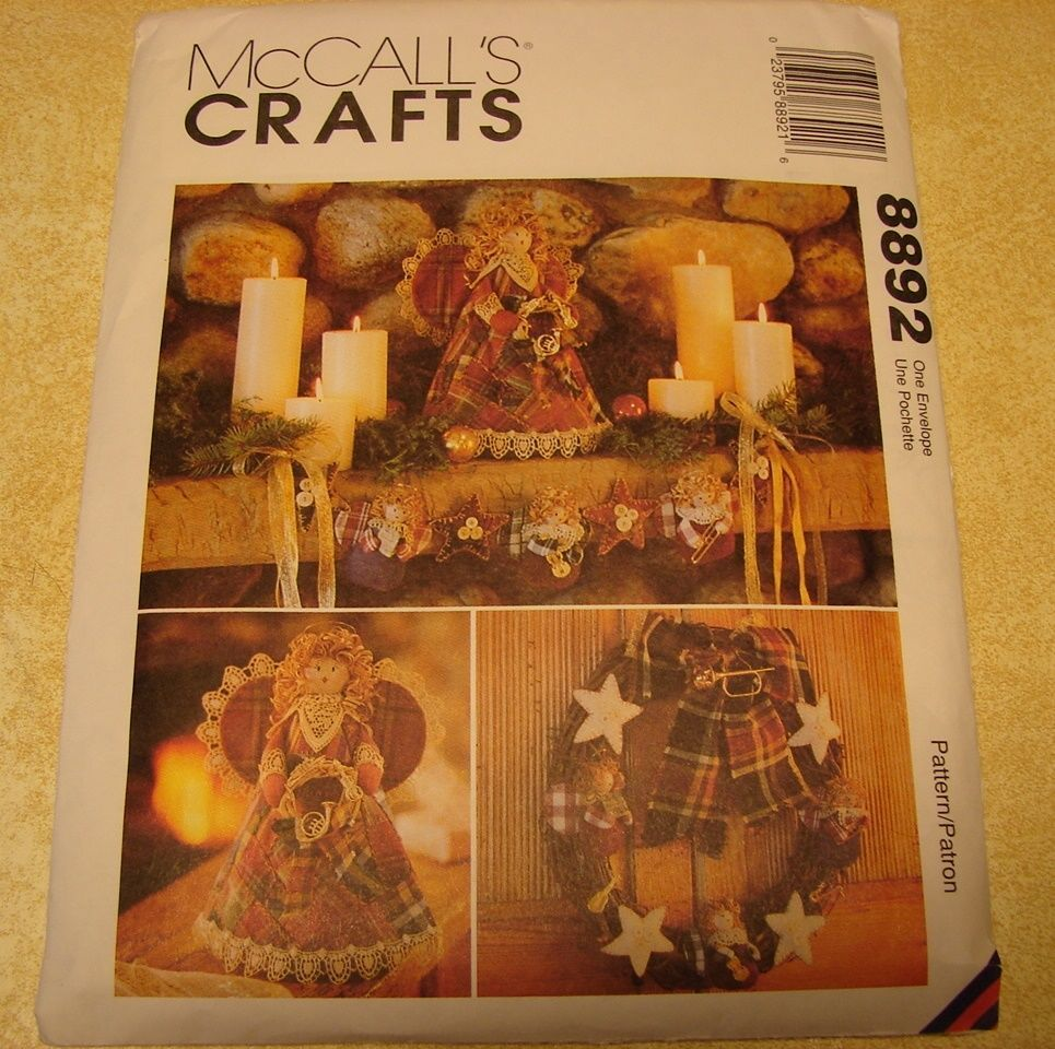 McCall's Crafts Country Angel #8892 Christmas Stocking Etc.Pattern Uncut 1997  #McCalls