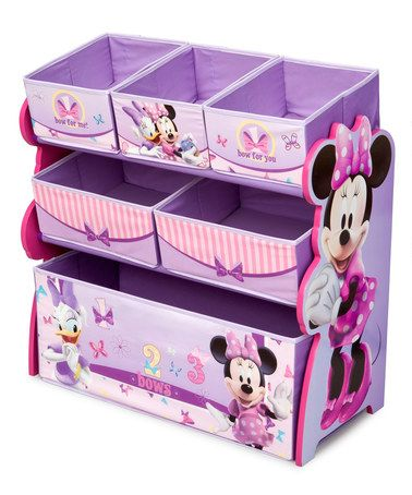 This Minnie Mouse Storage Bin Organizer By Mickey Mouse Minnie Mouse Is Perfect Zulilyfinds Minnie Mouse Toys Minnie Mouse Bedroom Kids Bins