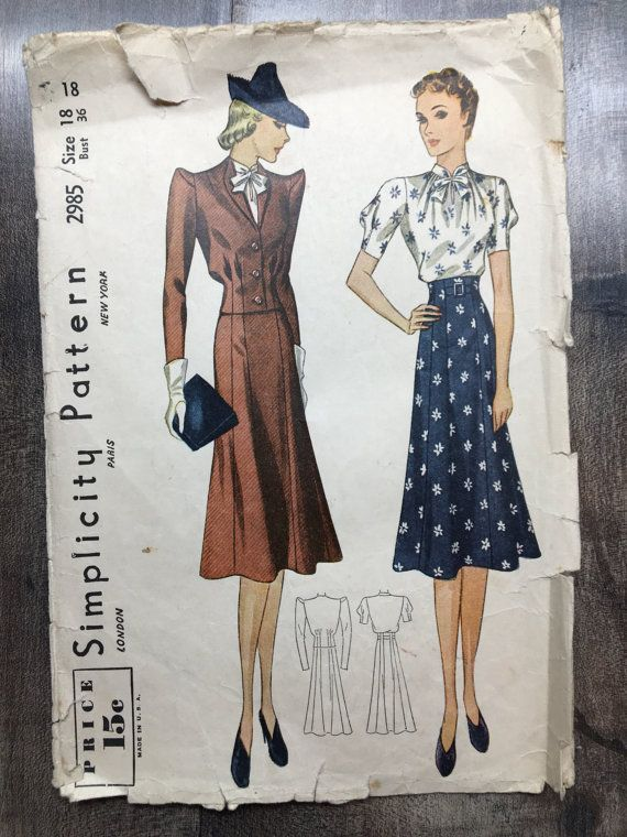 Pin On Vintage Patterns For Sale