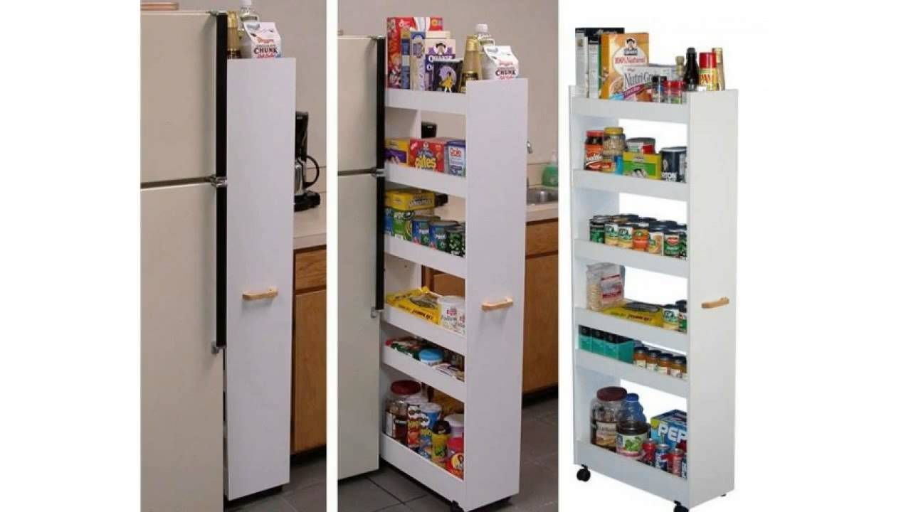 A E Efficiant Shelf System For Narrow Places In The Kitchen