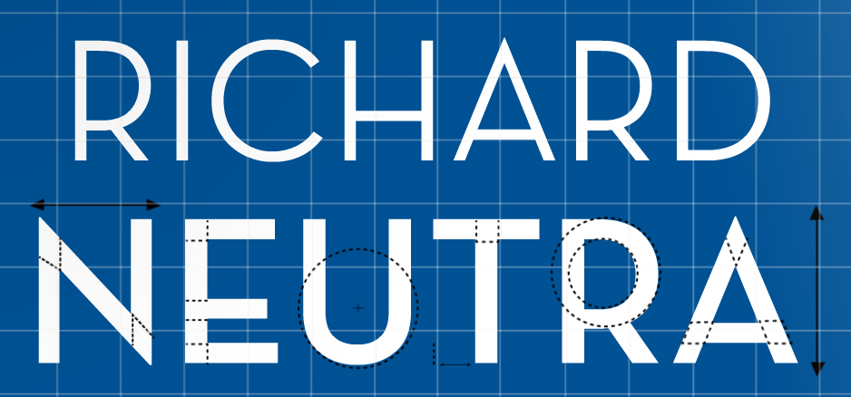 Richard Neutra : Neutraface poster by Michelle Regna