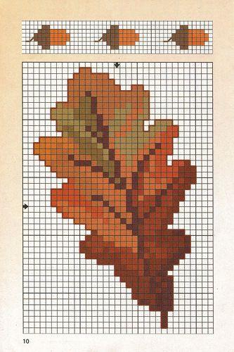 Pin von Jean Martin auf Leaves   Pinterest   Kreuzstich und Häkeln