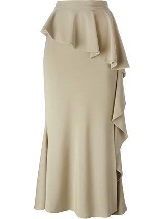 Givenchy Falda Larga Con Volantes - Etiquette - Farfetch.com  12d6e0df85f6