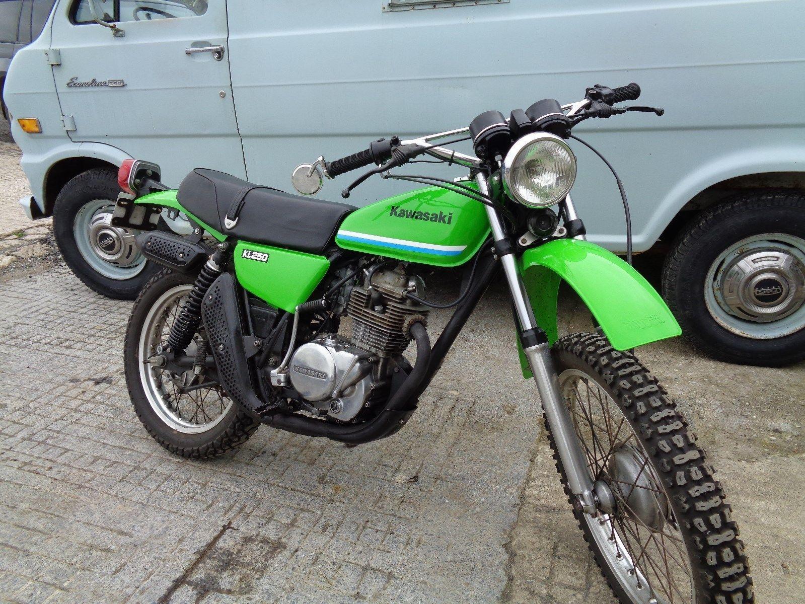 eBay: RARE 1978 KAWASAKI KL250, HARD TO FIND IN THIS LOVELY