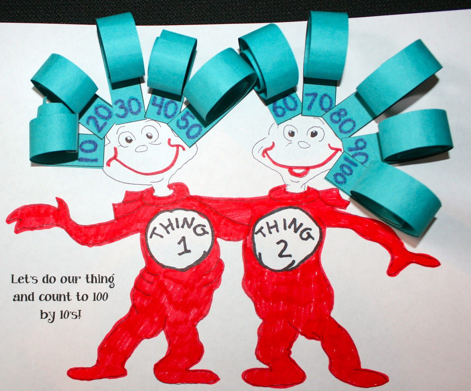 Thing 1 and Thing 2 Counting Curls | Classroom freebies, Math and School