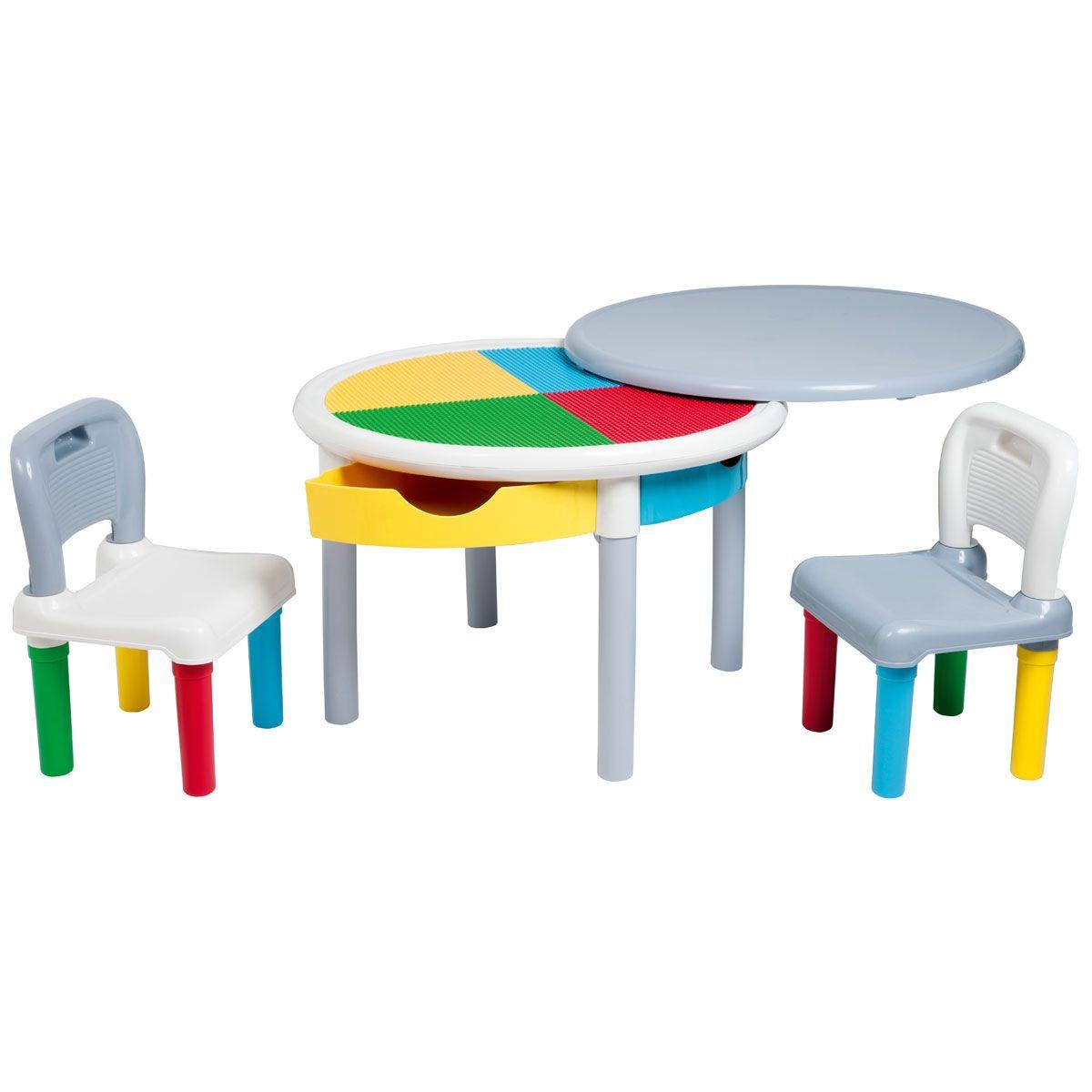 Table De Construction Multicolore Et Ses Deux Chaises Izibul Creation Oxybul Avec Images Table Basse Table Et Chaises Table Et Chaise Enfant