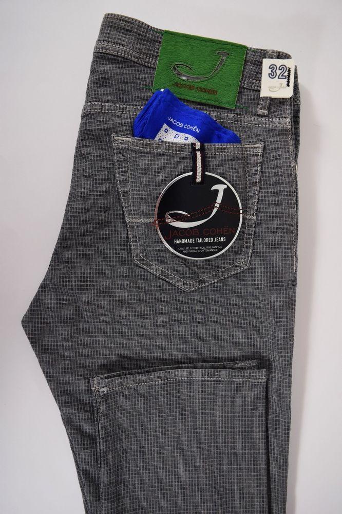 JACOB COHEN J688 comfort 5 tasche JEANS uomo pantalone COTONE stretch P//E rosso