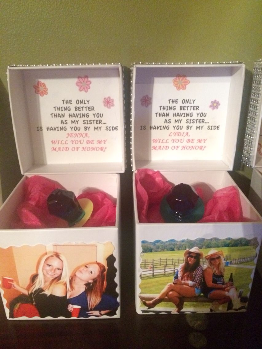 Maid Of Honor Ring Pop Proposal Fairytale Wedding Favors Ring