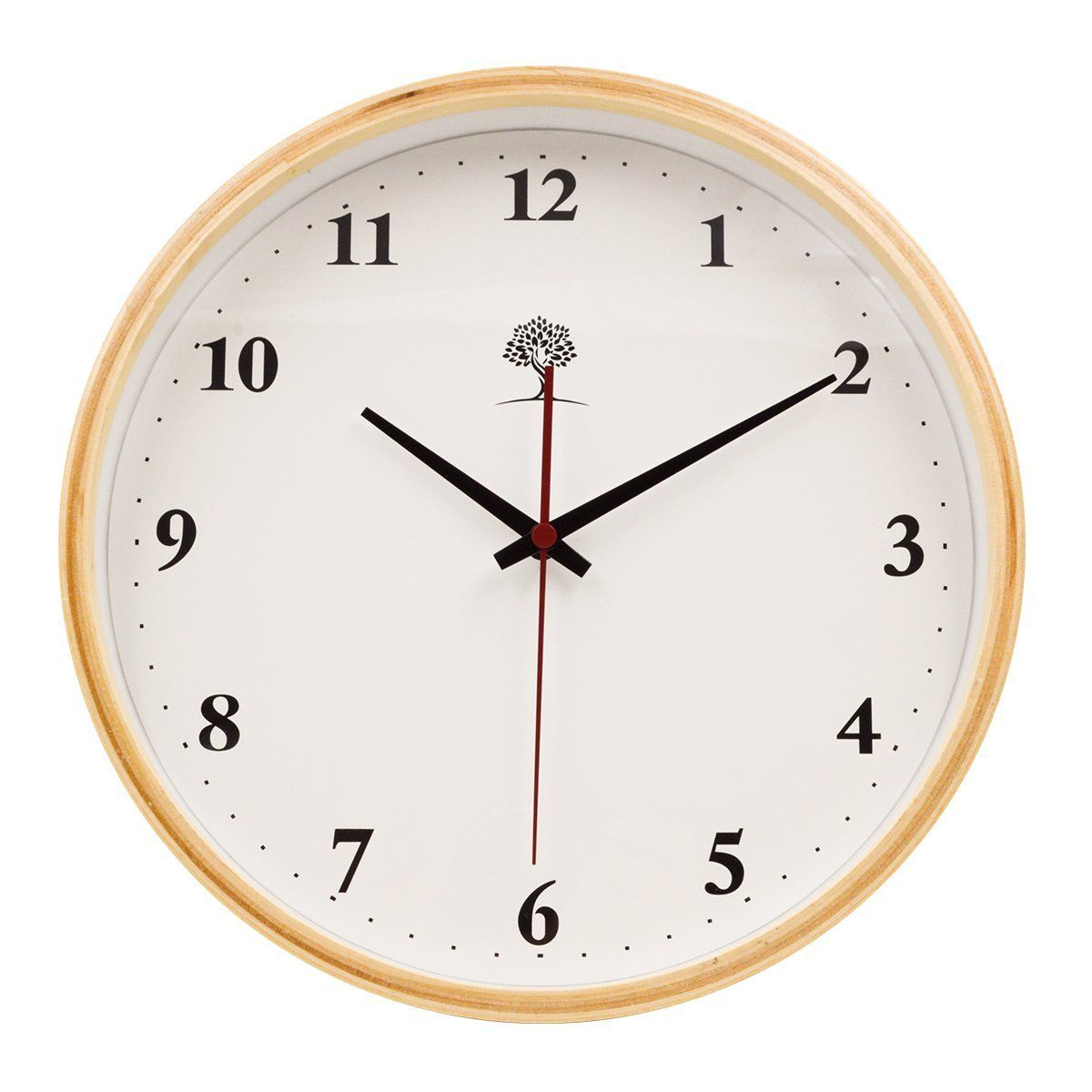 Amazon Com Hippih 10 Inch Digital Wooden Silent Wall Clock Burlywood Number Kitchen Dining