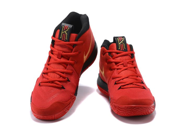a15e61891d5c Nike Kyrie 4 Chinese Red Black and Gold Cheap Kyrie Shoes 2018 ...