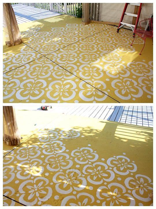 Cool painted floor (deck) Jardin Pinterest Essayer, Jardins et
