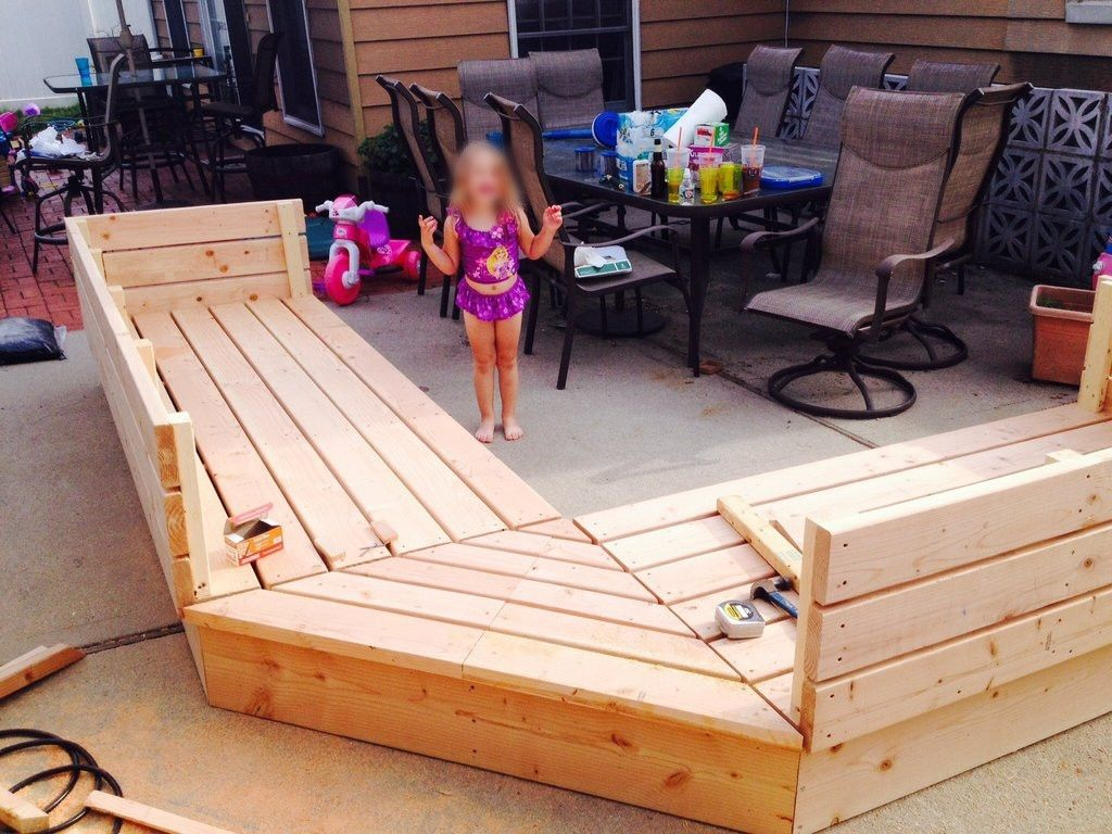Pallets Patio Project Pallet Style Outdoor Platform