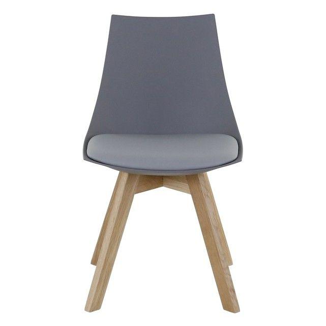 Kimlot piétement de chêne grise 2SalonChaise Chaise NyPOv8wn0m