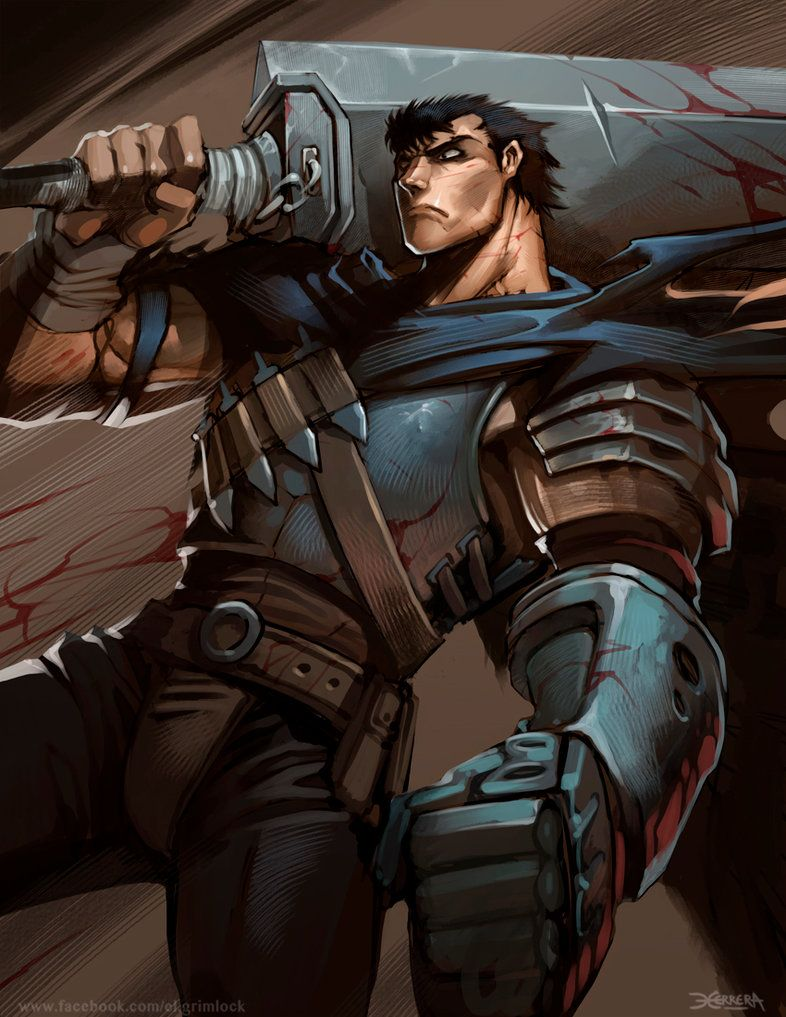 "Berserk by el-grimlock | ガッツ 'Gattsu' aka 'Guts' from the Anime/Manga series ""Berserk."" 