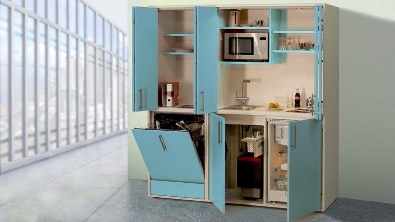 Schrankküche pro-art designLINE hellblau-weiß   Schrankküchen ...   {Schrankküche design 50}
