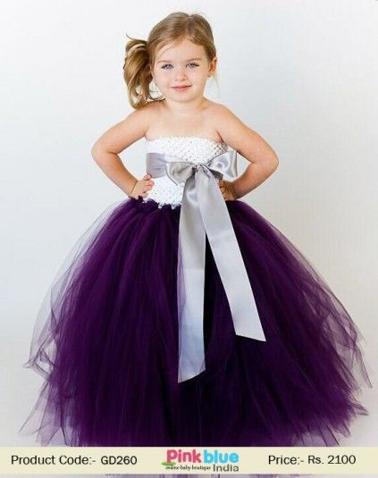 f08b07b55 Beautiful Deep Purple and White Tutu Dress for Little Girls and ...