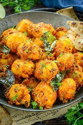 Close up shot of Bombay Potato recipe. | Indian food ...
