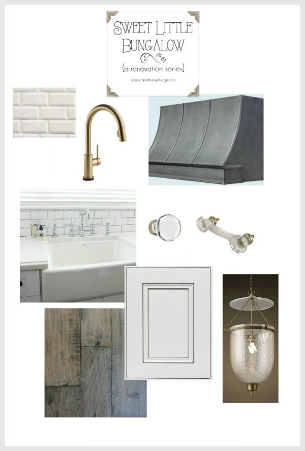 White and Gold Kitchen Inspiration - Sweet Little Bungalow | So Much Better With Age