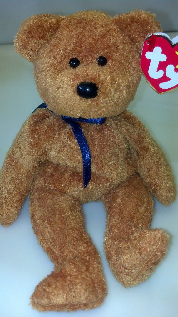 88c1fd09916 Fuzz the Bear Original Ty Beanie Baby Rare Errors Vintage Collectible Soft  Plush Girls Boys Decor Birthday Party Valentine s Day Gift Toy