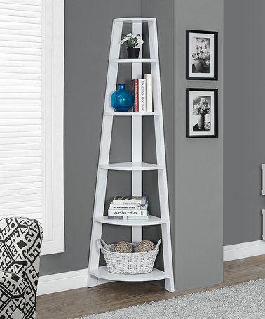 Love this White Corner Bookcase on #zulily! #zulilyfinds