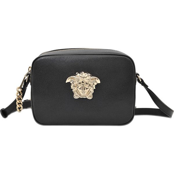 Versace PALAZZO CAMERA BAG (855 AUD) ❤ liked on Polyvore featuring bags,  black, camera bag, versace bags, zip bags, pocket bag and versace 48acb47819