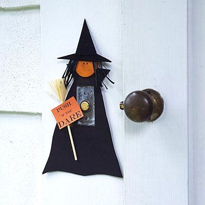 Outdoor Halloween Decorations Doorbell cover, Witches and Holidays - halloween decorations witch