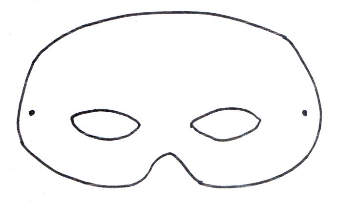 basic mask template (alter for different animals