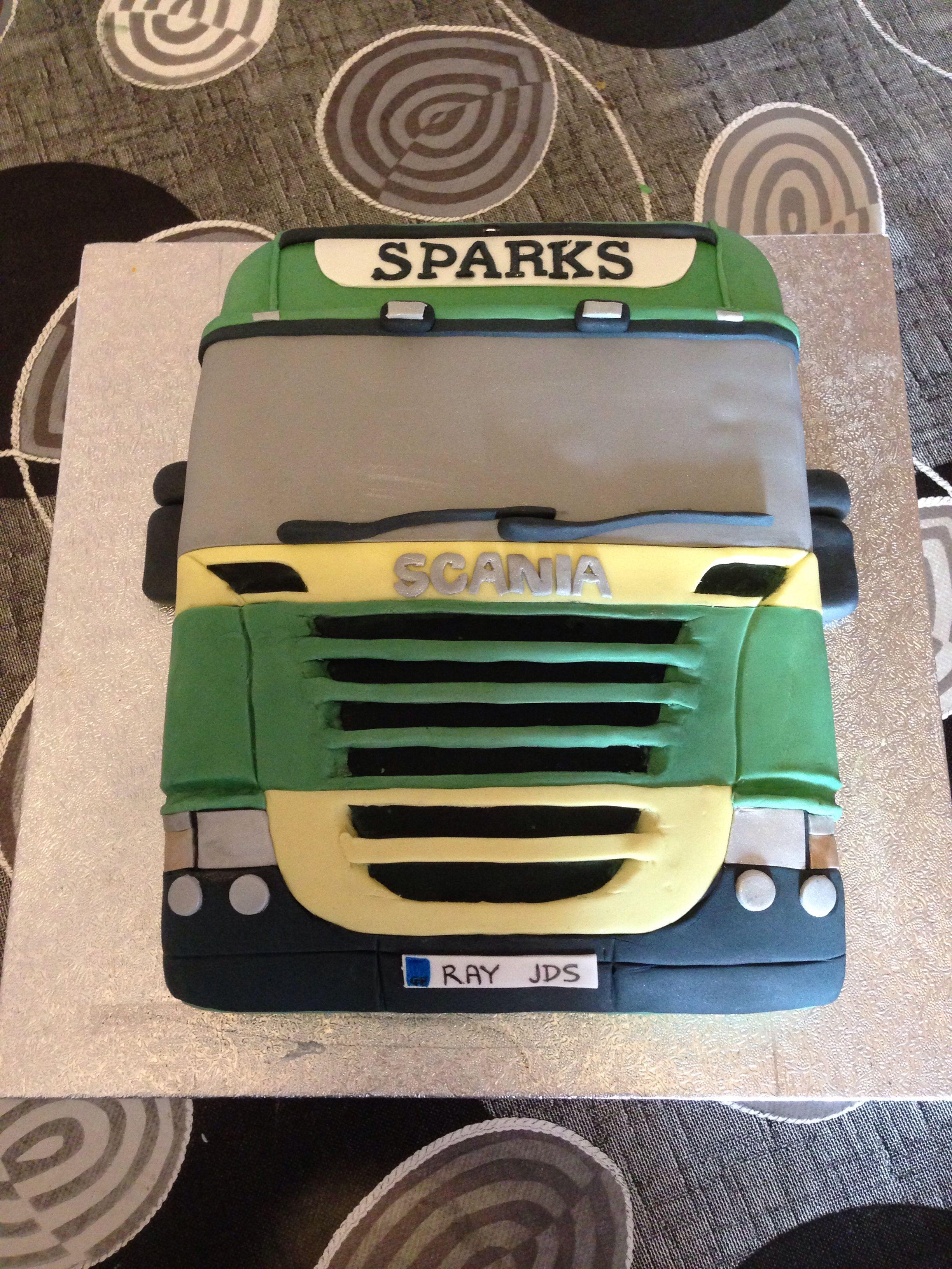 Scania Truck Cake Scania In 2019 Kuchen Ideen