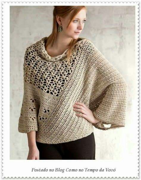 Saco a crochet para dama  537af4623adb