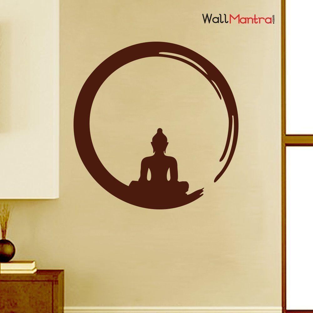 WallMantra Buddha inside Zen Circle Wall Decal Sticker Premium ...