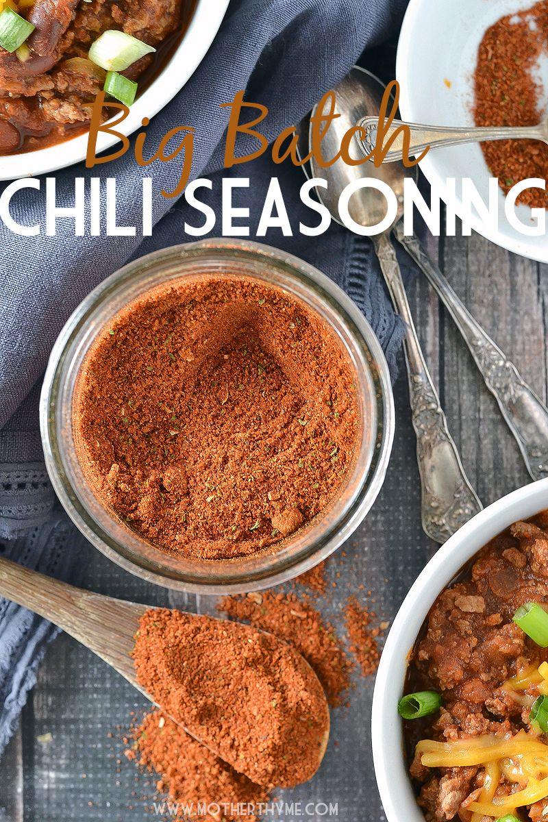Homemade Chili Seasoning Mix Recipe Chili seasoning