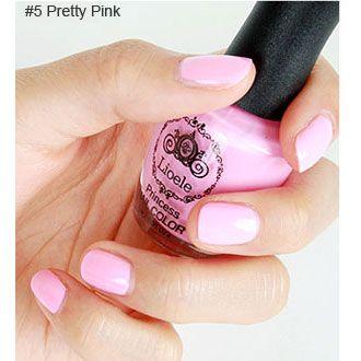light pink nail polishes.
