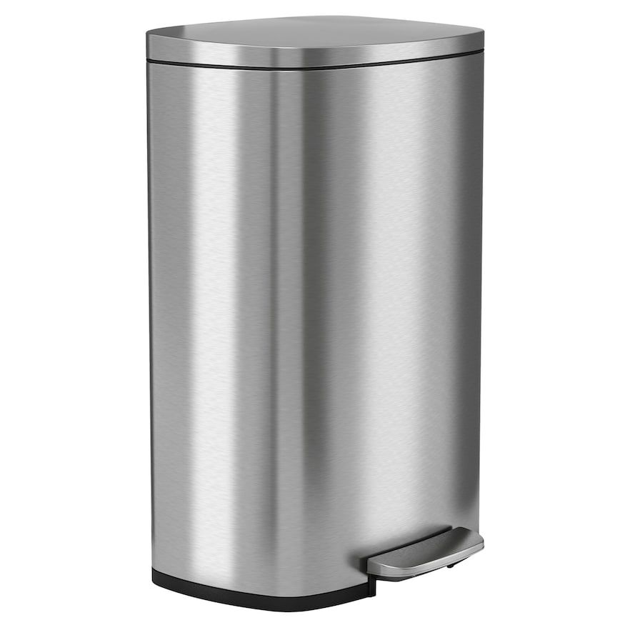 Halo Premium Softstep 1 3 Gallon Stainless Steel Step Trash Can