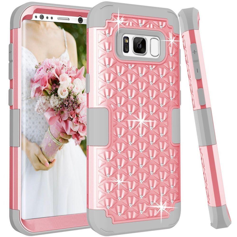 reputable site 4fa40 16356 Women Samsung Galaxy S8 Plus case Rhinestone Bling Studded Resistant ...