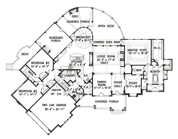 Lake Front Plan: 3,126 Square Feet, 3 Bedrooms, 2.5