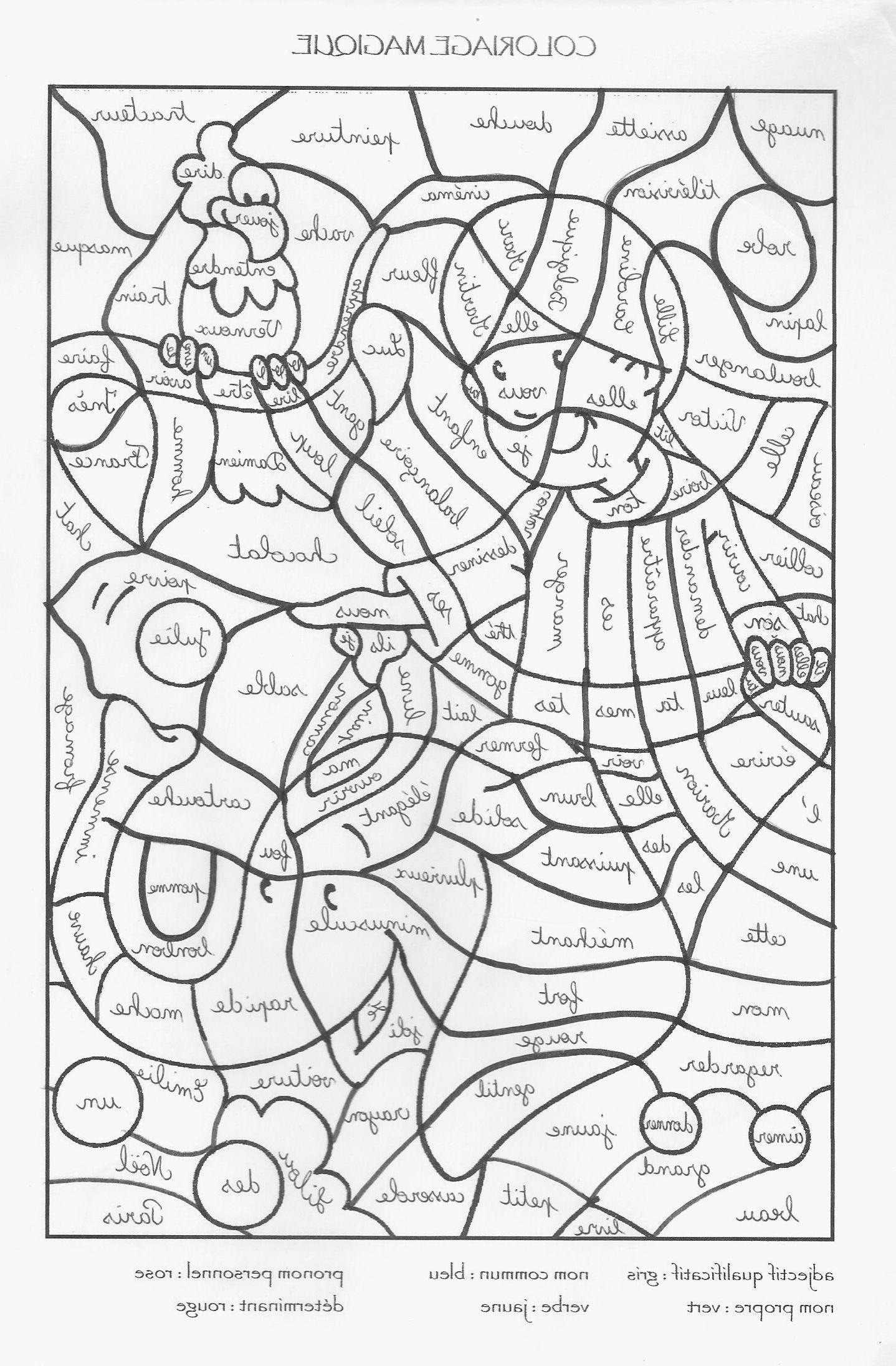 Autonomie Ce 25 Coloriage Magique   idées de coloriage