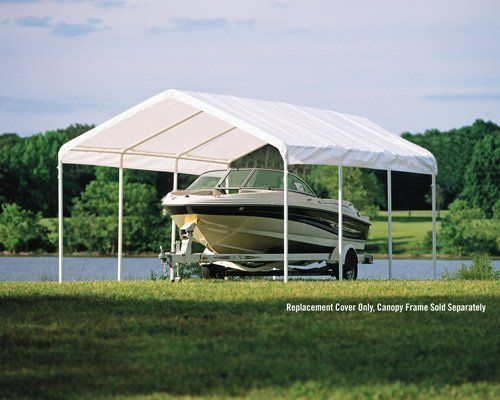 Shelterlogic 10049 12 20 White Canopy Replacement Cover Fits 2 In Frame By Shelterlogic 94 49 Manufactured To Th White Canopy Garden Canopy Canopy Outdoor