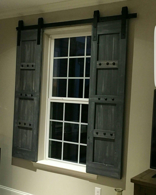 Barn Style Shutters - Window Barn Doors - Sliding Shutters ...