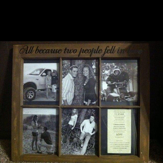 All because two people fell in love window picture frame | lovveeeee ...